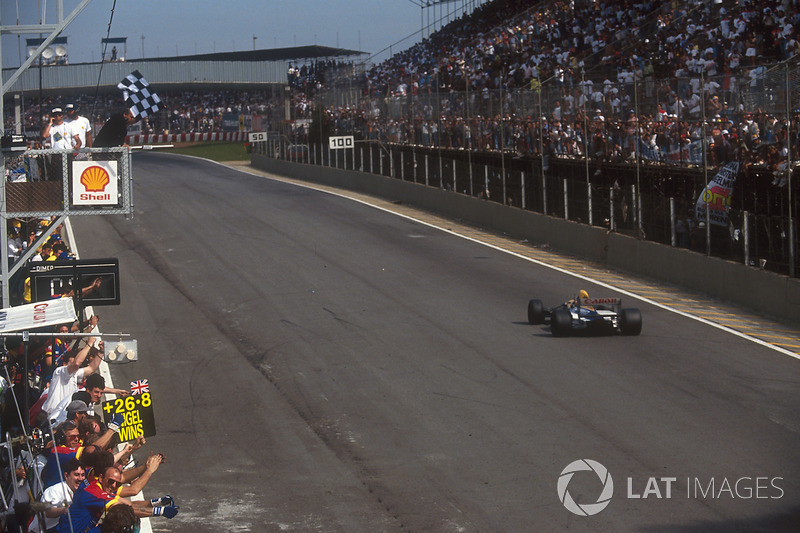 Ganador del GP de Brasil 1992: Nigel Mansell, Williams FW14B