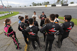 Mark Green talks to 2017 NASCAR Drive for Diversity Combine participants
