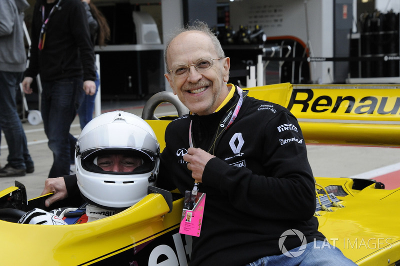 Rene Arnoux, Renault RS01 con Farid Aractingi,  Director independiente Renault crédito internacional SA Banque