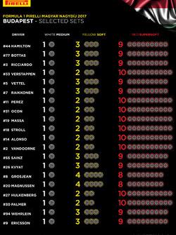 Beschikbare Pirelli-banden per rijder