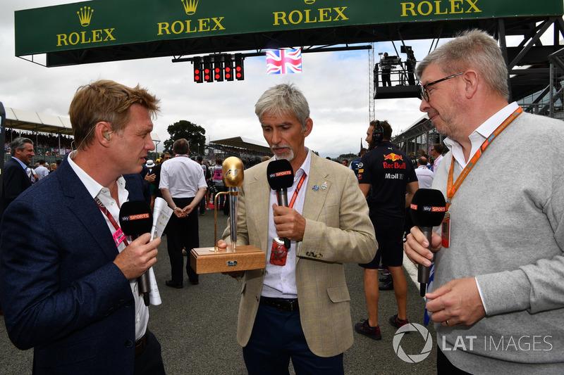 Simon Lazenby, Sky TV, Damon Hill, Sky TV y Ross Brawn, Formula One Director deportivo de Motorsports