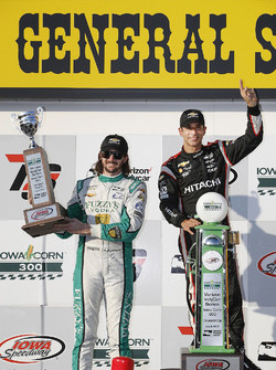 Podium: 1. Helio Castroneves, Team Penske Chevrolet; 2. J.R. Hildebrand, Ed Carpenter Racing Chevrolet; 3. Ryan Hunter-Reay, Andretti Autosport Honda