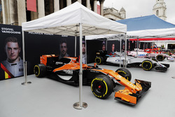 McLaren, Williams and Force India Formula 1 cars in Trafalgar Square ahead of a London demonstration run