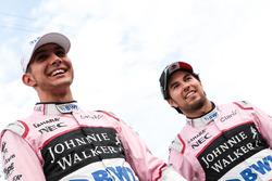 Sergio Perez, Sahara Force India, Esteban Ocon, Sahara Force India