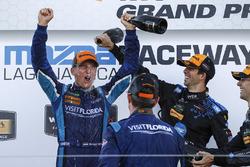 Podium: winners Renger van der Zande, Marc Goossens, Visit Florida Racing, third place Ricky Taylor, Jordan Taylor, Wayne Taylor Racing