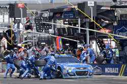 Jimmie Johnson, Hendrick Motorsports Chevrolet, makes a pit stop
