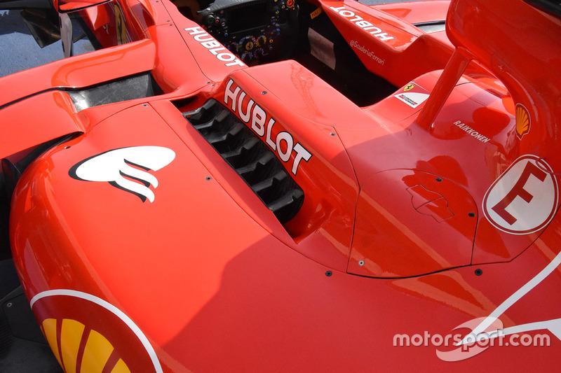 Ferrari SF70H detalle de la carrocería