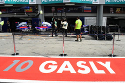 The garage of Pierre Gasly, Scuderia Toro Rosso
