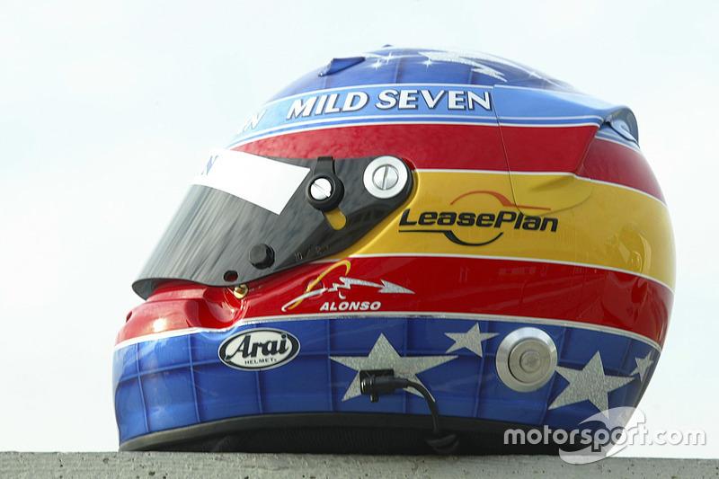 Casco de Fernando Alonso en 2003
