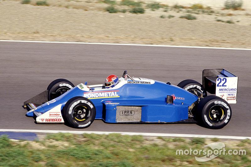 #22: Franco Forini, Osella FA1G, Alfa Romeo