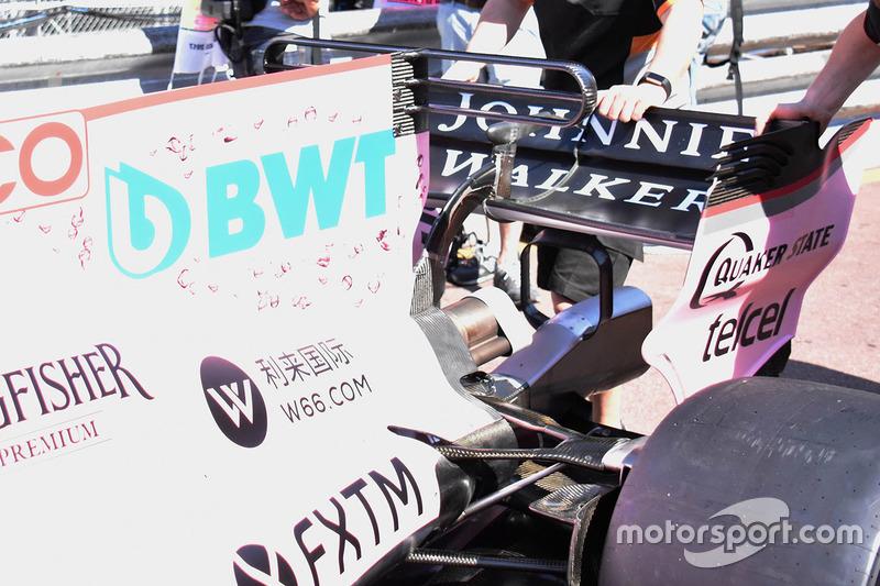 Detalle del T-wing del Force India VJM10