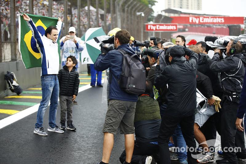 Felipe Massa, Williams, mit Sohn Felipinho Massa