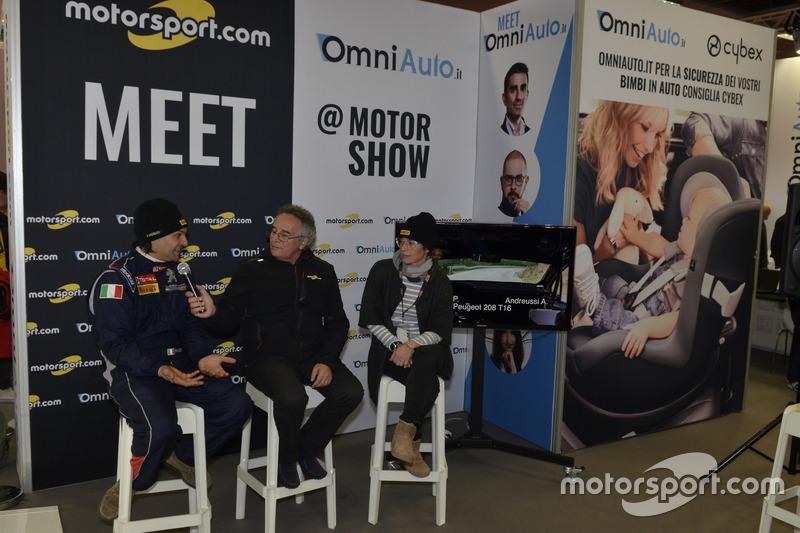 Paolo Andreucci, Franco Nugnes, Director de Motorsport.com y Anna Andreussi