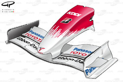 Toyota TF108 2008 front wing and nose