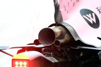 Sahara Force India VJM10, Auspuff, Detail