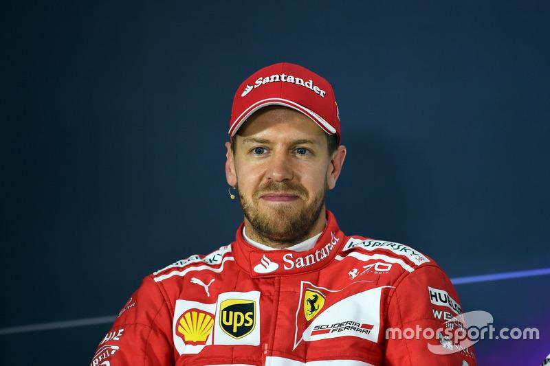Sebastian Vettel, Ferrari nella conferenza stampa