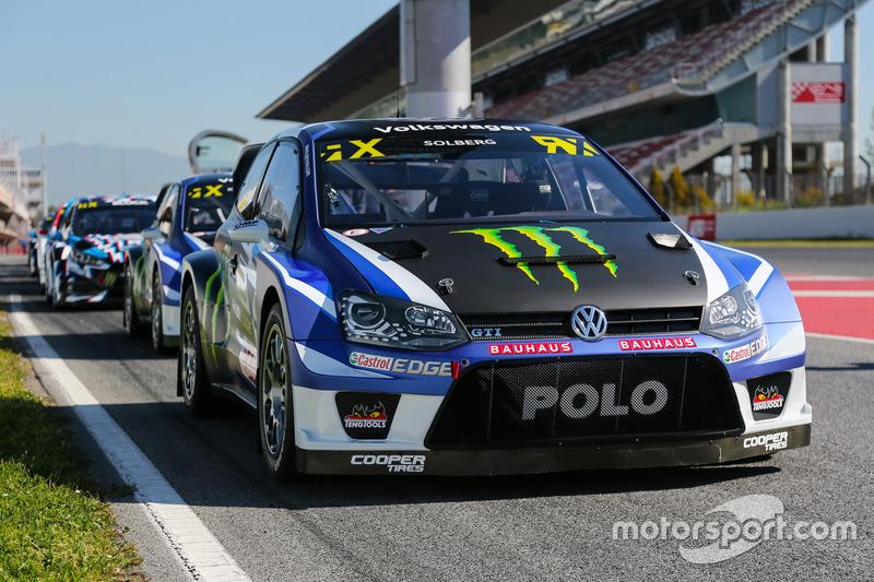 The car of Petter Solberg, PSRX Volkswagen Sweden, VW Polo GTi