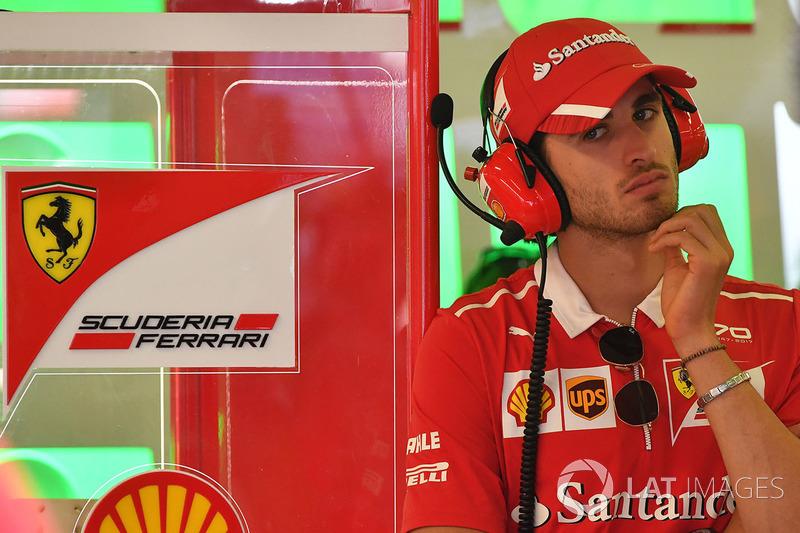 Антоніо Джовінацці, пілот по розвитку Ferrari