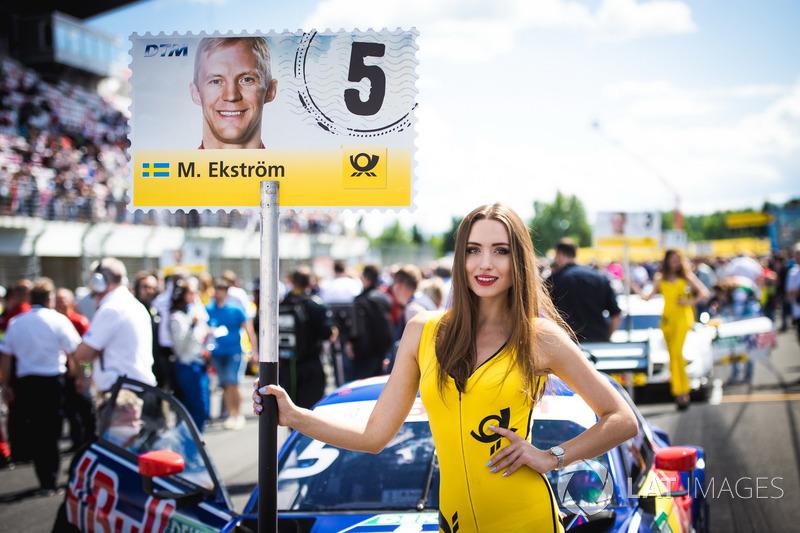 Grid girl of Mattias Ekström, Audi Sport Team Abt Sportsline, Audi A5 DTM