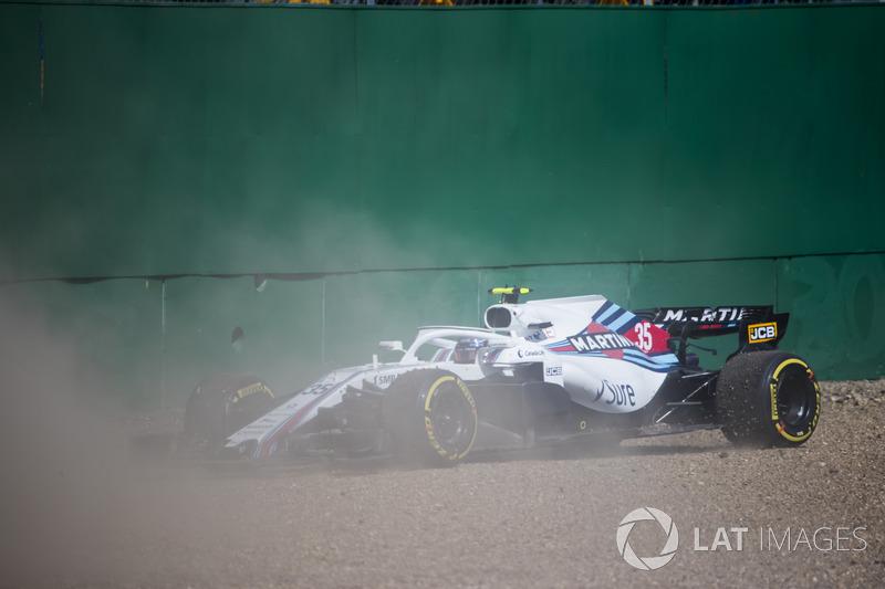Sergey Sirotkin, Williams FW41, en la grava