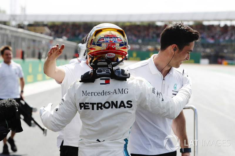 Il poleman Lewis Hamilton, Mercedes AMG F1