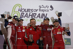 Podium LMGTE Pro: second place James Calado, Alessandro Pier Guidi, AF Corse
