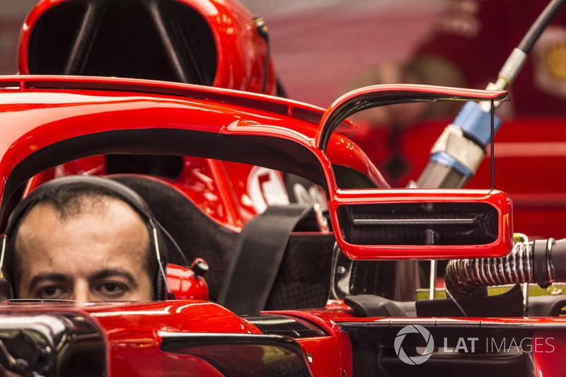Detalle del espejo Ferrari SF71H