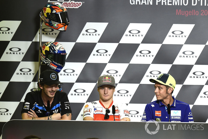 Jack Miller, Pramac Racing, Valentino Rossi, Yamaha Factory Racing, Francesco Bagnaia, Sky Racing Team VR46