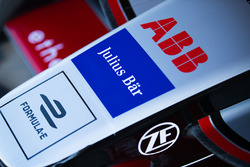 ABB, Jullus Bar, Formule E logos on the nose of the car of Maro Engel, Venturi Formula E