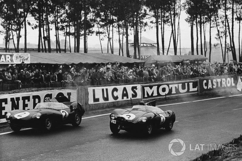 Пол Фрер, Дезмонд Тіттерінгтон, Jaguar D-type,  Джек Ферман, Кен Вортон, Jaguar D-type