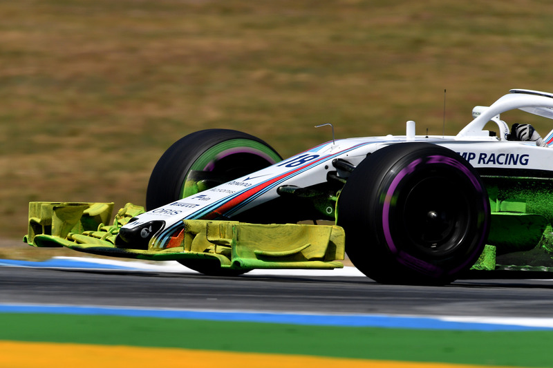 Lance Stroll, Williams FW41 with aero paint on front wing