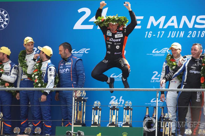 LMP2 podium: Roman Rusinov, G-Drive Racing