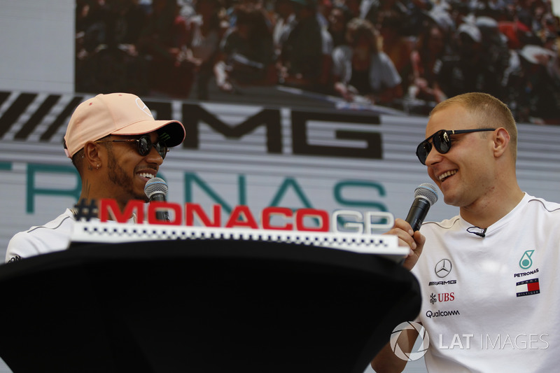 Lewis Hamilton, Mercedes-AMG F1 and Valtteri Bottas, Mercedes-AMG F1