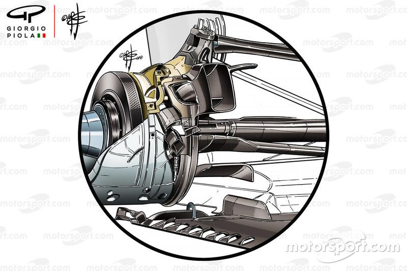 Suspensión trasera Mercedes AMG F1 W09