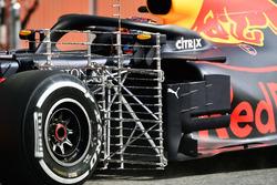 Max Verstappen, Red Bull Racing RB14 con sensores