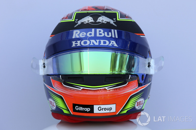 Le casque de Brendon Hartley, Scuderia Toro Rosso