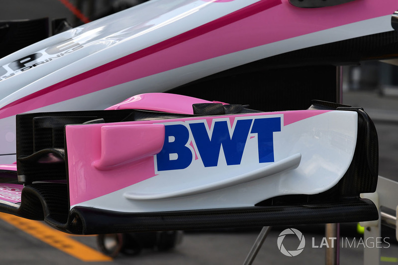 L'aileron avant de la Force India VJM11
