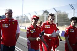Sebastian Vettel, Ferrari, Riccardo Adami, Ferrari Race Engineer, Maurizio Arrivabene, Ferrari Team