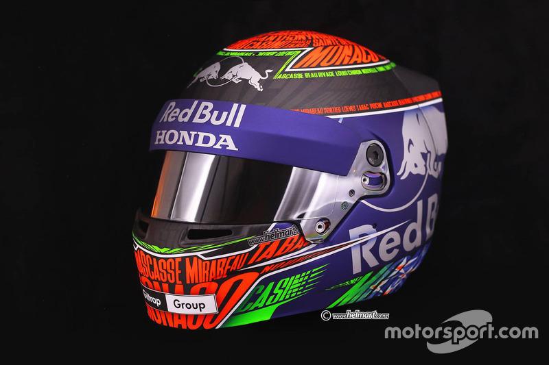 Casco de Brendon Hartley, Toro Rosso para el GP de Mónaco