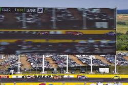 Chase Elliott, Hendrick Motorsports, Chevrolet Camaro SunEnergy1 and Daniel Suarez, Joe Gibbs Racing, Toyota Camry ARRIS