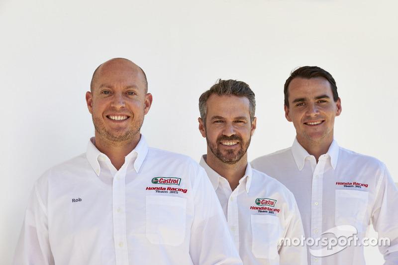Rob Huff, Tiago Monteiro, Norbert Michelisz, Honda Racing Team JAS