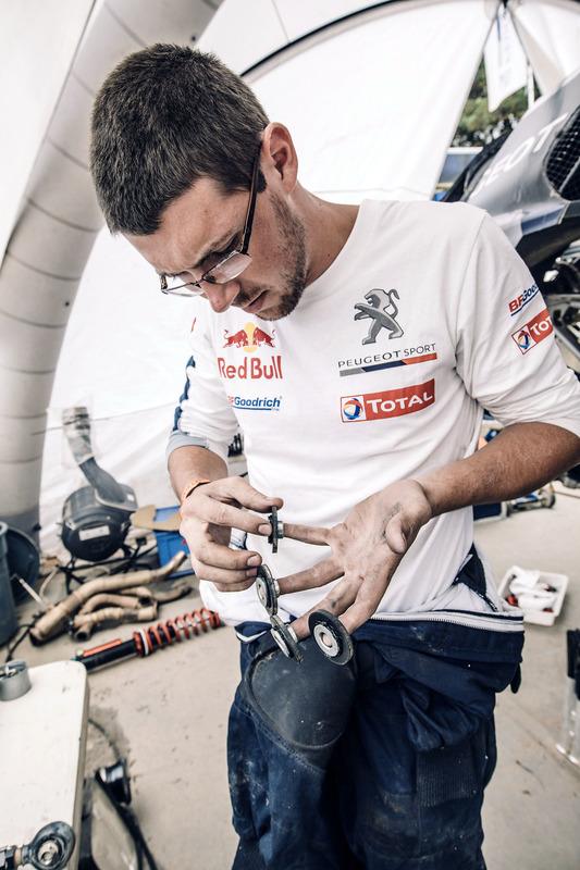 Peugeot Sport mechanic at work