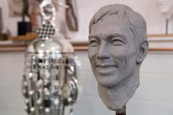 Borg-Warner Trophy bust of Takuma Sato