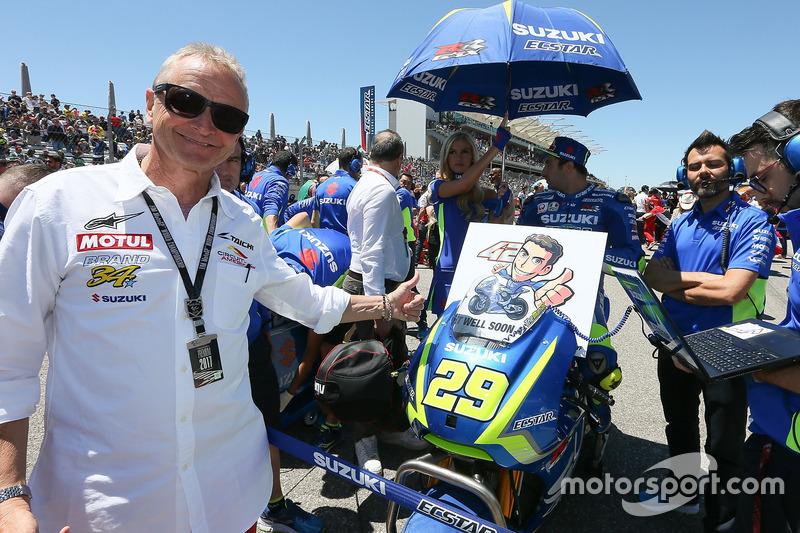 Kevin Schwantz, Alex Rins, Team Suzuki MotoGP recupérate pronto