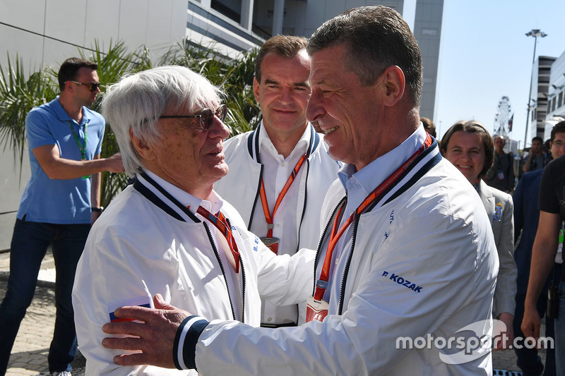 Dmitry Kozak, Deputy Prime Minister of the Russian Federation and Bernie Ecclestone (GBR)