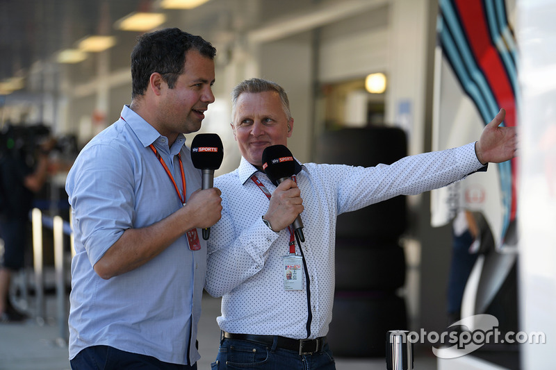 Ted Kravitz, Sky TV and Johnny Herbert, Sky TV