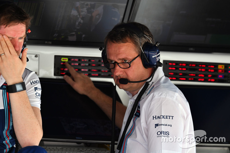 Rob Smedley, Williams Head of Vehicle Performance and Steve Nielson, Williams F1 Sporting Manager