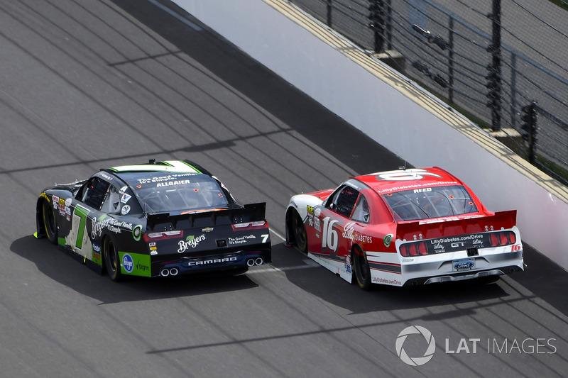 Justin Allgaier, JR Motorsports Chevrolet y Ryan Reed, Roush Fenway Racing Ford