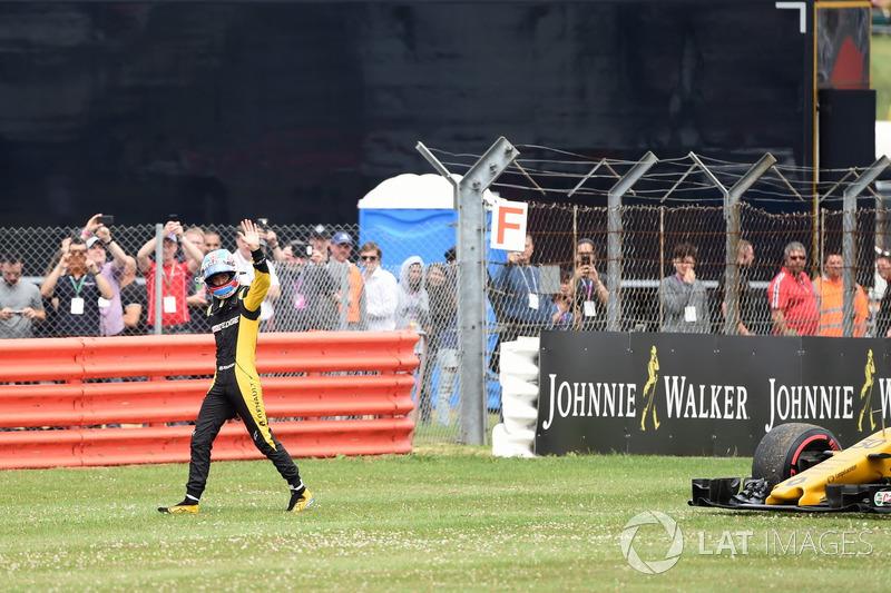 Retiro de la carrera Jolyon Palmer, Renault Sport F1 Team