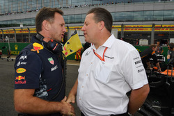 Christian Horner, Red Bull Racing Team Principal and Zak Brown, McLaren Executive Director